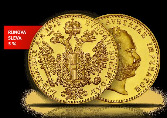 Zlatá investiční mince 1 Dukát Rakousko 1915