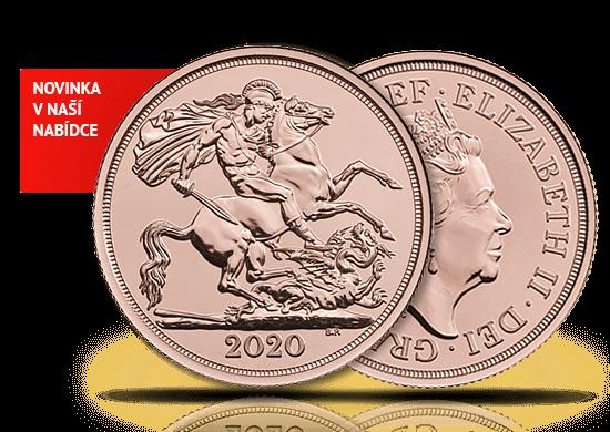 Zlatá investiční mince Double Sovereign 2020