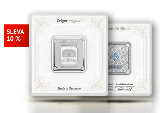 Investiční stříbrný slitek Geiger original 31,1 g (1 Oz)