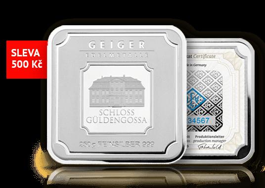 Designový stříbrný slitek Geiger original