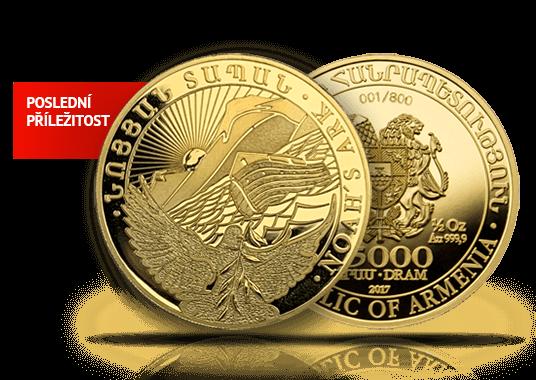 Poslední příležitost pořídit si zlatou investiční minci Archa Noemova 2017 ½ Oz