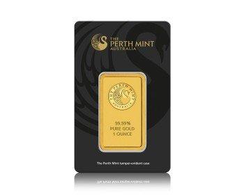 Zlatý investiční slitek Perth Mint 31,1 gramů (1 Oz) - líc