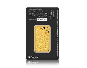 Zlatý investiční slitek Perth Mint 31,1 gramů (1 Oz) -rub