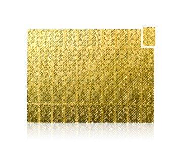 Zlatý investiční slitek tabulkový (Tafelbarren) 50 gramů – zadní strana