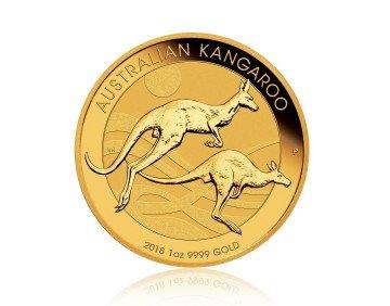 Zlatá investiční mince Nugget Kangaroo Klokan 1 Oz – zadní strana