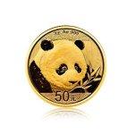 Zlatá investiční mince China Panda (Čínská panda) 3 g – přední strana