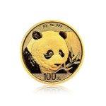 Zlatá investiční mince China Panda (Čínská panda) 8 g – přední strana