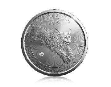 Stříbrná investiční mince Rys Predator 2017 31,1 g (1 Oz) – první strana