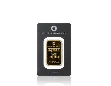 Zlatý investiční slitek Rand Refinery 31,1 gramu – přední strana