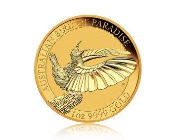 Zlatá investiční mince Bird of Paradise Viktoria 1 Oz 2018 – zadní strana