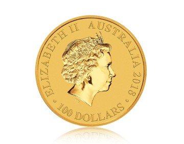 Zlatá investiční mince Bird of Paradise Viktoria 1 Oz 2018 – přední strana