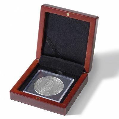 Etue Voltera dřevěná XL Quadrum pro čtvercovou mincovní kapsli 67 x 67 mm