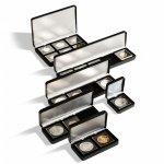 Etue Nobile černá koženka pro čtvercové mincovní kapsle – různé druhy etuí
