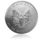 Stříbrná investiční mince American Eagle 31,10 gramů (1 Oz) – druhá strana