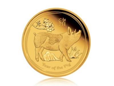 Zlatá investiční mince Australský lunární rok 2018 Vepř 31,1 g (1 Oz)