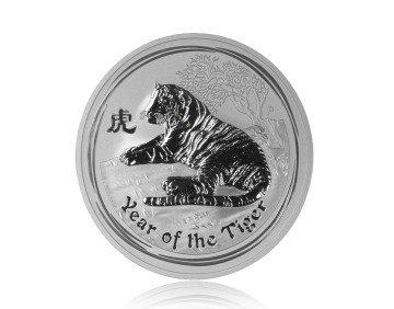 Stříbrná mince Australský lunární rok 2010 Tygr 311,04 gramu - zadní strana
