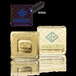 latý slitek GEIGER originál 1 gram ve čtvercové kapsli vánoční edice - souhrný obrázek