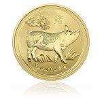 Zlatá investiční mince Australský lunární rok 2018 Vepř 1 Oz – další obrázek