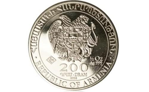Stříbrná investiční mince Archa Noemova 15,55 gramu (1/2 Oz) – přední strana