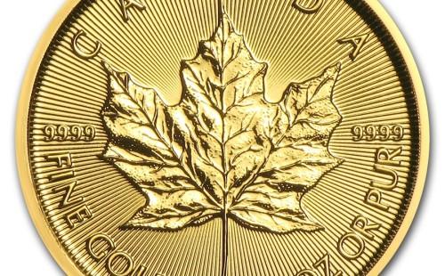 Zlatá investiční mince Maple Leaf 3,1 g – první strana