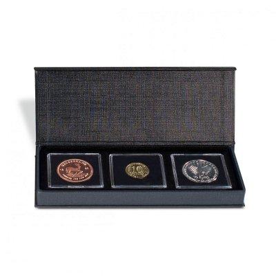 Etuje AIRBOX na 3 čtvercové mincovní kapsle 50 x 50 mm - první obrázek.