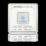 Stříbrný investiční slitek GEIGER Original 5 g - druhá strana