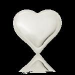 Stříbrný slitek srdce z ryzího stříbra 31,1 g | Ekka Gold - první strana
