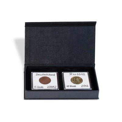 Etuje AIRBOX na 2 čtvercové mincovní kapsle 50 x 50 mm - první obrázek.