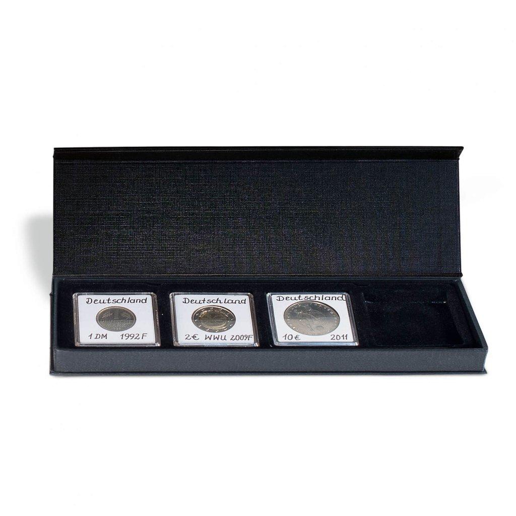 Etuje AIRBOX na 4 čtvercové mincovní kapsle 50 x 50 mm - první obrázek.