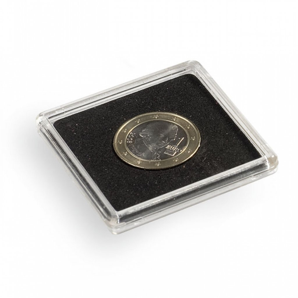 Kapsle na minci plastová čtvercová 50 x 50 mm