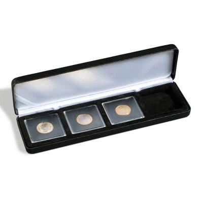 Etuje NOBILE na 4 čtvercové mincovní kapsle 50 x 50 mm.