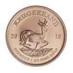 Zlatá investiční mince Krugerrand 1 Oz – zadní strana