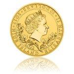 Zlatá uncová investiční mince Český lev 2019 reverse proof 31,1 g - druhá strana