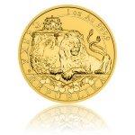 Zlatá uncová investiční mince Český lev 2019 reverse proof 31,1 g - první strana