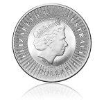 Stříbrná investiční mince Kangaroo 31.1 gramu (1 Oz) – druhá strana
