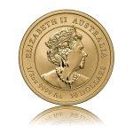 Zlatá investiční mince Australský lunární rok 2020 Myš 15,55 g (1/2 Oz) – druhá strana