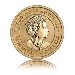 Zlatá investiční mince Australský lunární rok 2020 Myš 7,78 g (1/4 Oz) – druhá strana