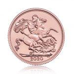 Zlatá mince Sovereign novoražby od roku 1985 7,32 g  - druhá strana