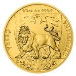 Zlatá 1/2oz investiční mince Český lev 2020 stand 15,55 g - první obrázek