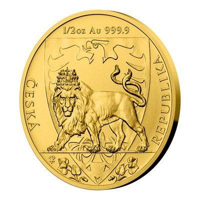Zlatá 1/2oz investiční mince Český lev 2020 stand 15,55 g - třetí obrázek