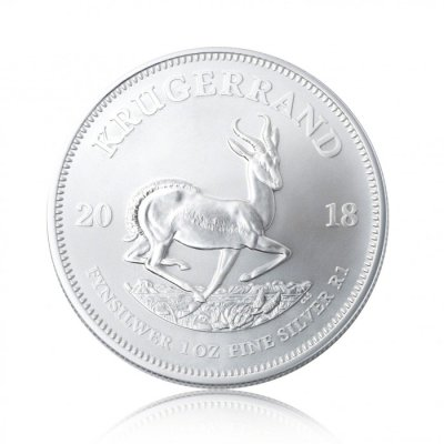 Stříbrná investiční mince Krugerrand 31,1 gramu (1 Oz) – druhá strana