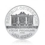 Stříbrná investiční mince Wiener Philharmoniker 31,1 gramu (1 Oz) – druhá strana