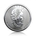 Stříbrná investiční mince Maple Leaf 31,1 gramu (1 Oz) – druhá strana