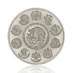 Stříbrná investiční mince Mexico Libertad 5 Oz – druhá strana