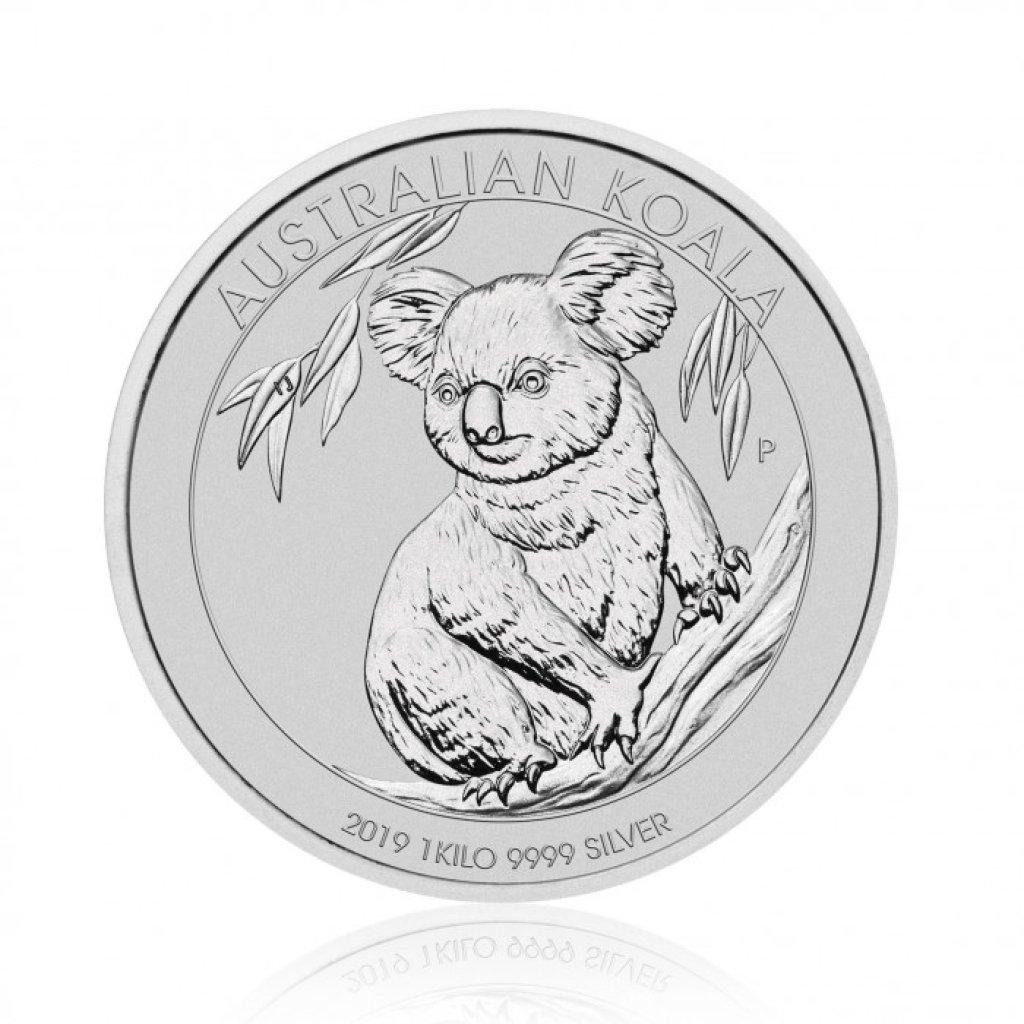 Stříbrná investiční mince Australian Koala 1 Kg – první strana