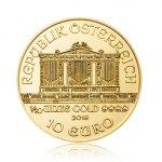 Zlatá investiční mince Wiener Philharmoniker 1/10 Oz – druhá strana