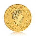 Zlatá investiční mince Australský Lunární rok 2020 Myš 1,56 g - druhá strana