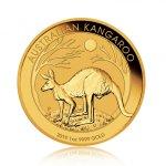 Zlatá investiční mince Nugget Kangaroo Klokan 31,1 g – první strana
