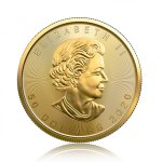 Zlatá investiční mince Maple Leaf 31,1 g – druhá strana
