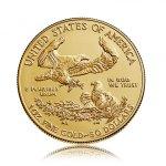 Zlatá investiční mince American Eagle (Americký orel) 31,1 g - první strana